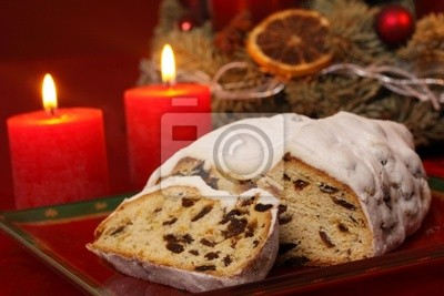 Butter Stollen in candlelight