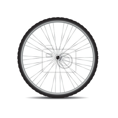 Wall mural bycicles wheel