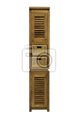 Cabinet with drawers on a white background
