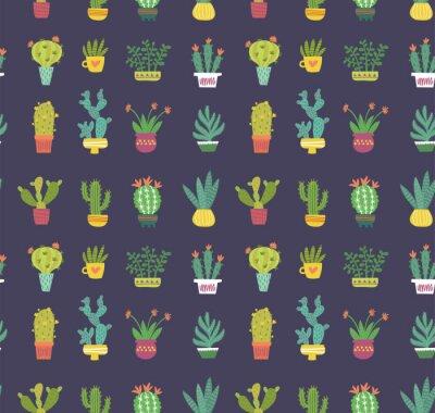 Wall mural cactus seamless pattern