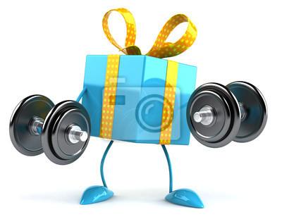 Cadeau avec des poids