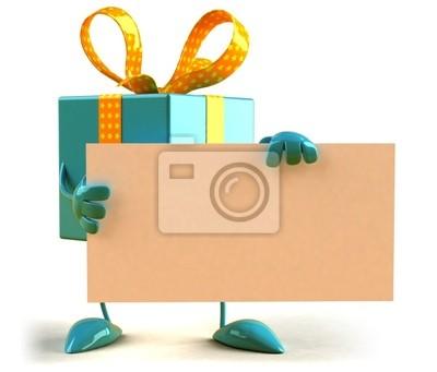 Cadeau avec un panneau