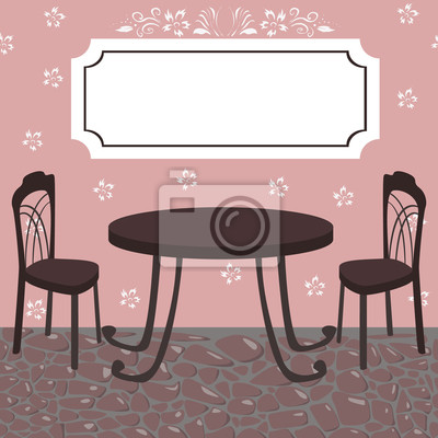 Wall mural cafe