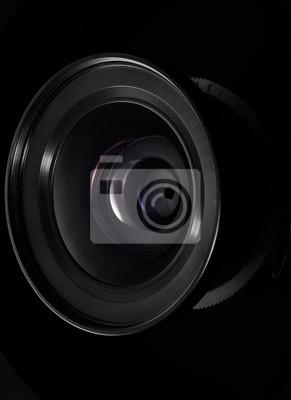 Wall mural camera lens