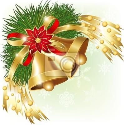 Campane di Natale Angolo-Christmas Bells Corner-Vector
