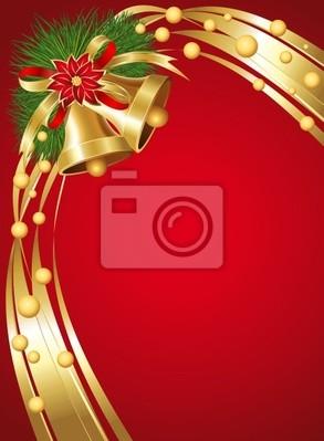 Campane di Natale-Christmas Bells Background-Vector