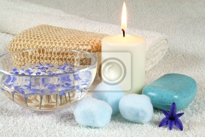 Candle in spa