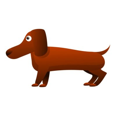 Wall mural Canine dachshund icon. Cartoon of canine dachshund vector icon for web design isolated on white background