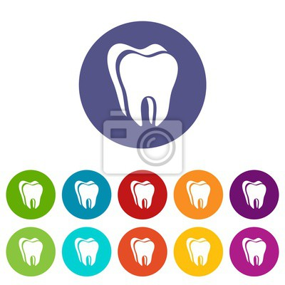 Wall mural Canine tooth icon. Simple illustration of canine tooth vector icon for web