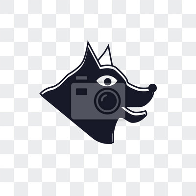 Wall mural Canine vector icon isolated on transparent background, Canine logo design