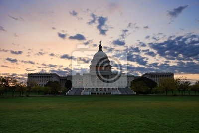 Capitol Hill Building in the morning, Washington DC