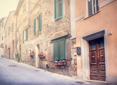 Wall mural Captivating street of old Montepulciano