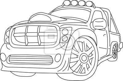 Wall mural car
