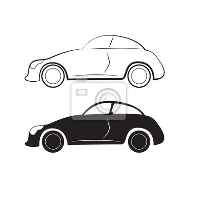 car silhouettes for design side view