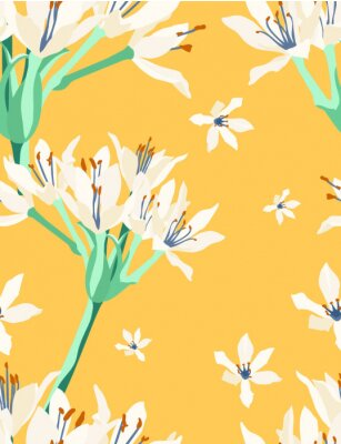Wall mural cardwell lilly vintage pattern C