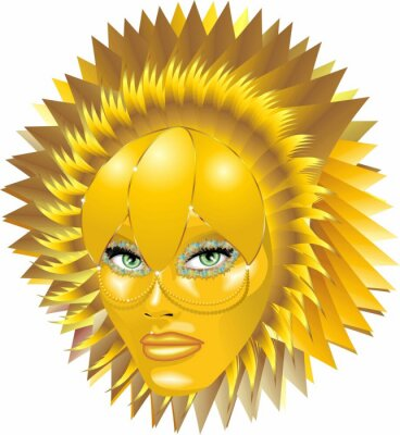 Carnevale d'Oro-Golden Carnival Mask-Vector