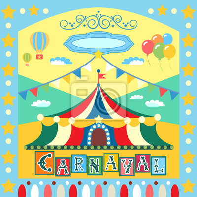 Wall mural carnival poster