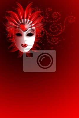 Wall mural Carnival Red - Rosso
