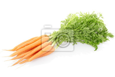 Wall mural Carrots isolated on white, clipping path included