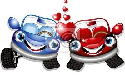 Cars Cartoon Love -Love - Cars Vector