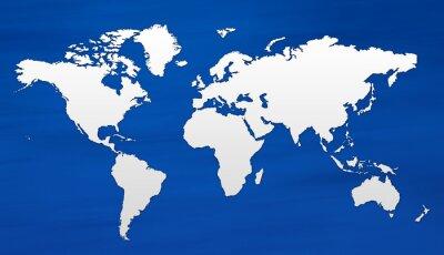 Wall mural carte du monde