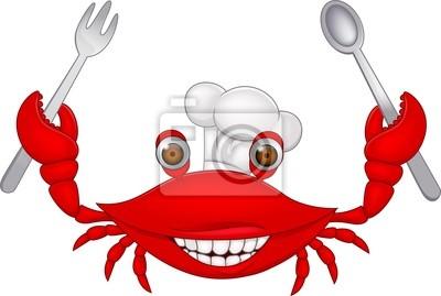 Cartoon crab chef