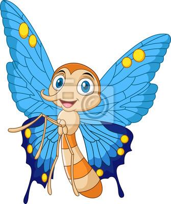 Cartoon funny butterfly