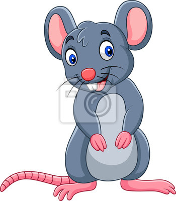 Wall mural Cartoon funny mouse