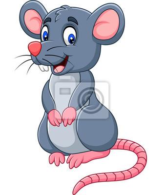 Cartoon happy mouse
