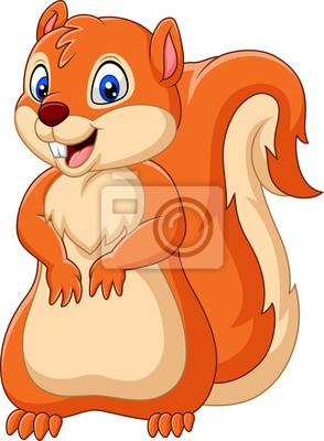 Cartoon happy squirrel