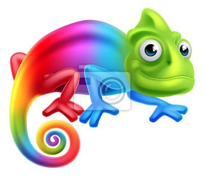 Wall mural Cartoon Rainbow Chameleon