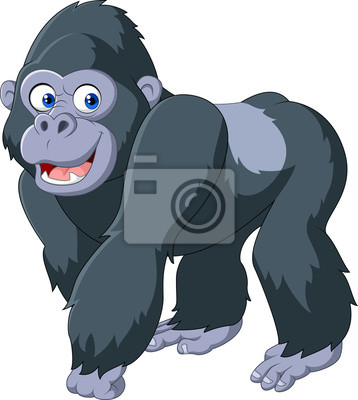 Cartoon silver back gorilla