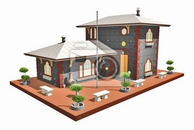 Casa Antica in Pietra-Ancient Stone House-3D