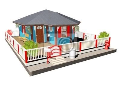 Casa Blu-Blue House-3D