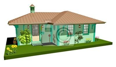 Casa Casetta Verde-Little Green House-3D