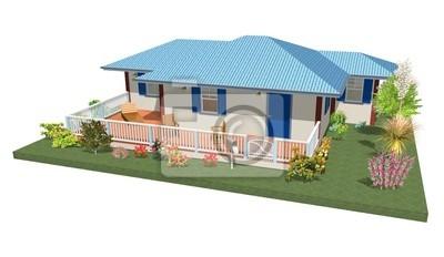 Casa con Giardino-Home With Garden-3d-4