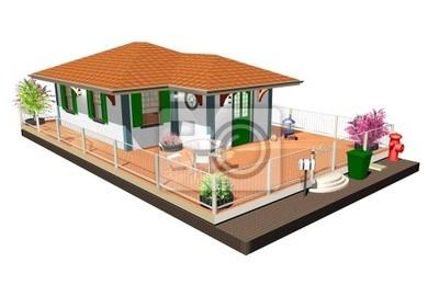 Casa di Campagna-Country House-3D-3