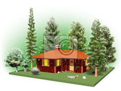 Casa nel Bosco d'Inverno- Home in a Wood-3D