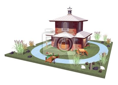 Casa Nella Palude-House in the Swamp-3D