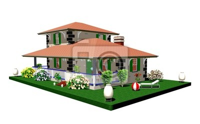 Casa Rustica Campagna-Country House-2-3D