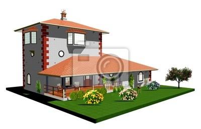 Casa Villa di Campagna-Country House-3D-1