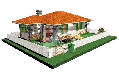 Casetta di Campagna-Little Country House-3d