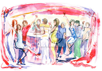 Wall mural celebration