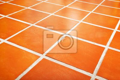 Wall mural Ceramic tiled floor