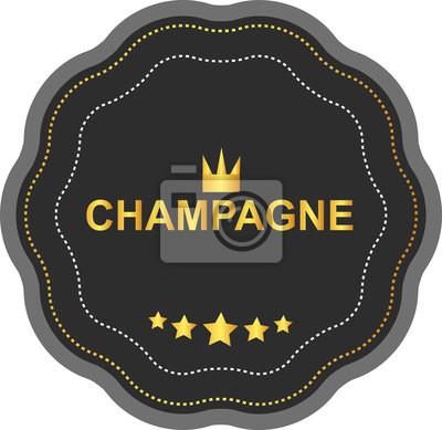 Wall mural champagne