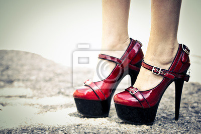 Wall mural Chaussures rouges vernies