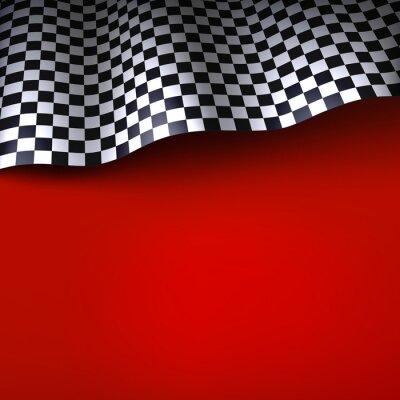 Wall mural Checkered flag