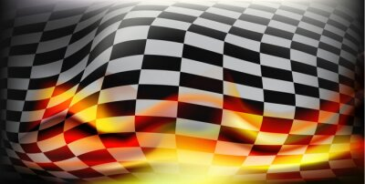 Wall mural checkered race flag. Racing flags. Background checkered flag For