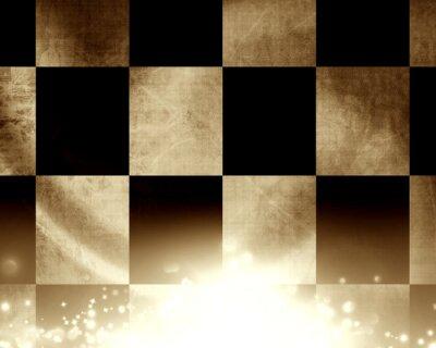 Wall mural Checkered racing flag