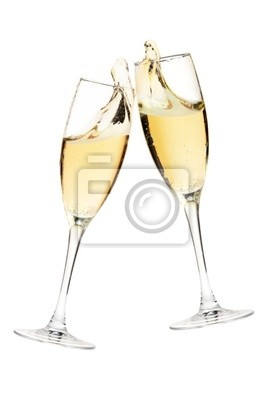 Wall mural Cheers! Two champagne glasses